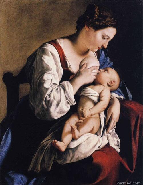 """Оригинал схемы вышивки  """"Орацио Джентилески : Мадонна с младенцем """" ."""
