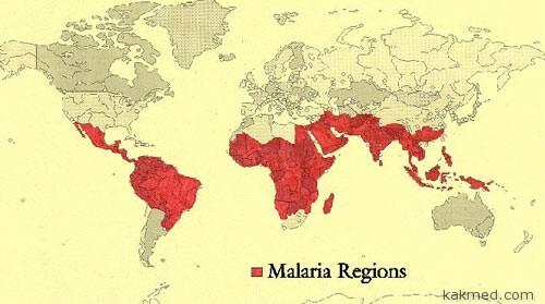 Карта малярии