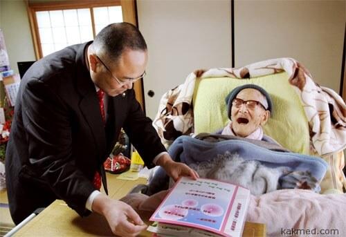 Поздравление старейшему мужчине