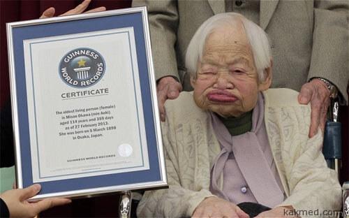 Мисао Окава старейшая бабушка на Земле