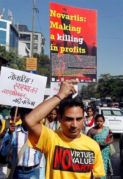 Демонстрация в Индии за дженерики