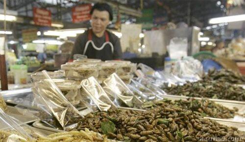 Таиланд насекомые жаренные