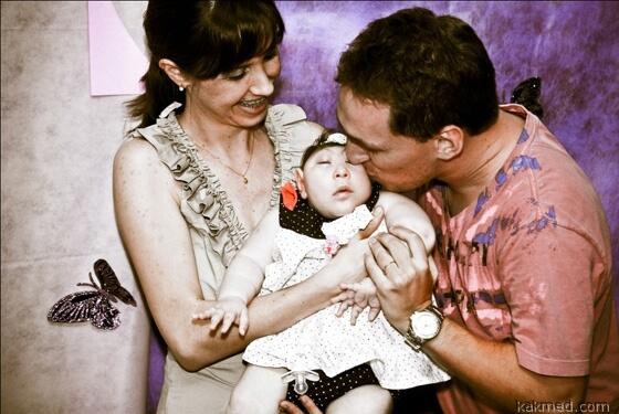 Бэби Кей с родителями