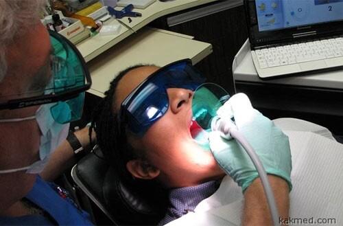 Установка зубного датчика