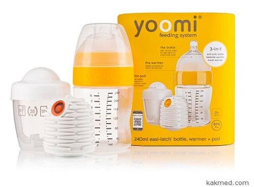 Детская бутылочка с подогревом Yoomi
