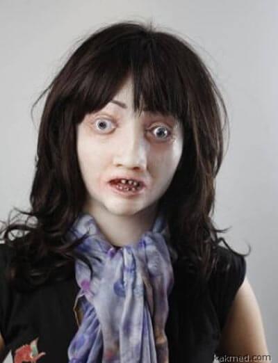 Женская маска курильщика
