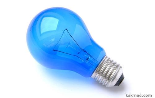 Синяя лампа помогает