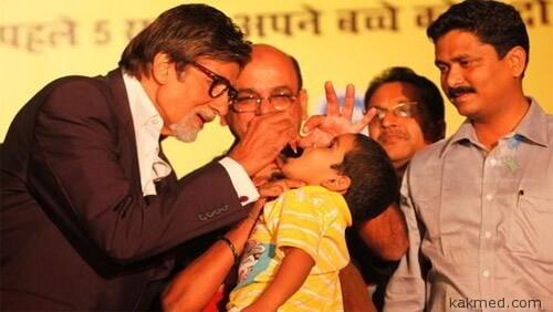 Прививка от полиомиелита в Индии