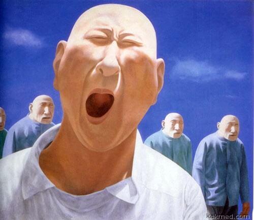 Китаец неудачно зевнул