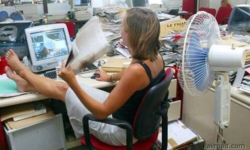 Слишком жарко на работе