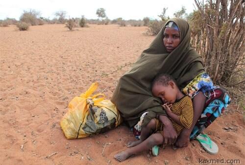 Сомалийка с ребенком