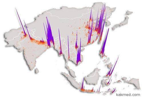 Карта риска птичьего гриппа