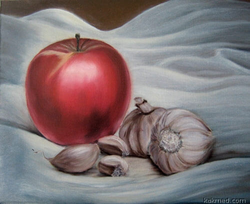 Яблоко после чеснока