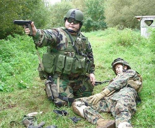 Толстый солдат