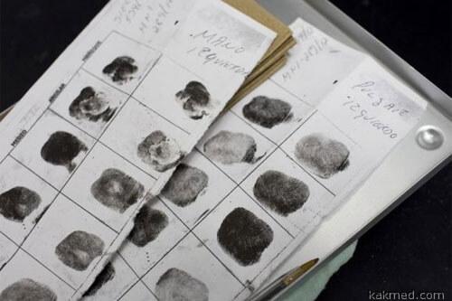 Отпечатки пальцев трупов