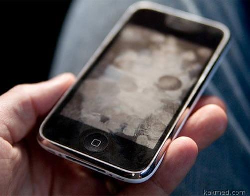 Замацанный айфон