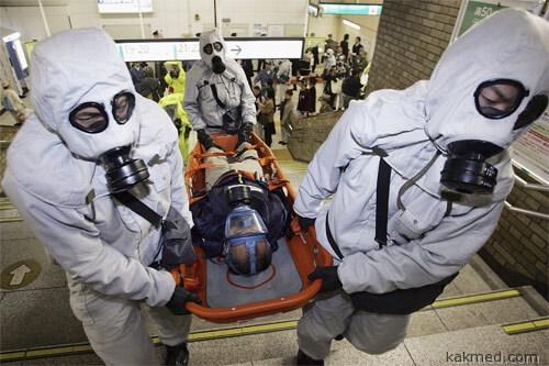 Жертва газовой атаки