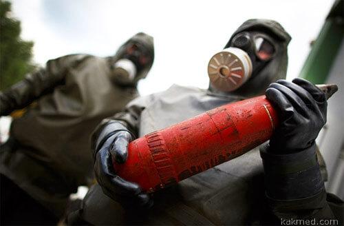 Уничтожение химических бомб