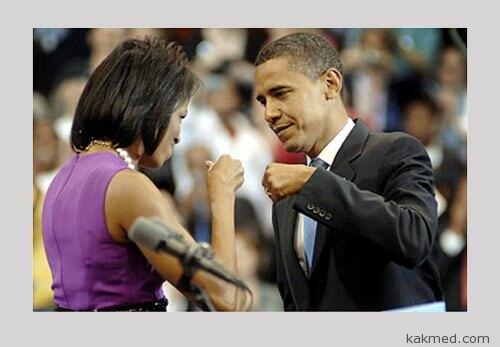 Обамы знают толк в гигиене рук