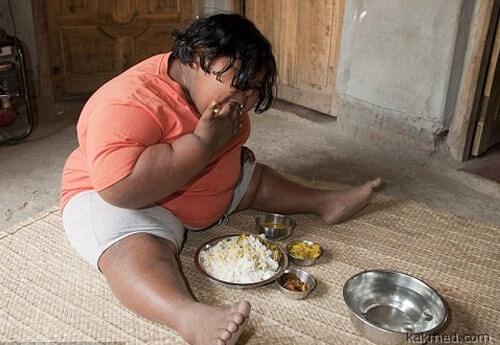 Толстая девочка из Бенгалии