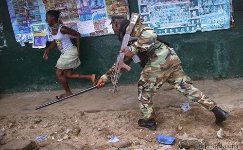 Эбола-протесты в Либерии
