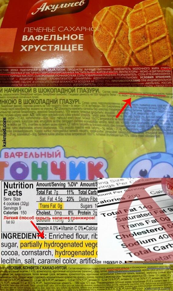примеры продуктов ,в которых содержатся транжиры