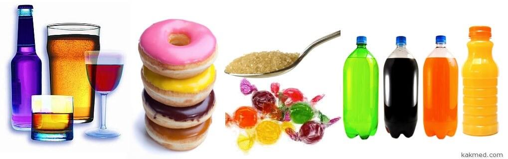Продукты, причиняющие кариес