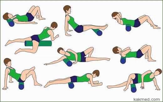 пенный валик упражнения